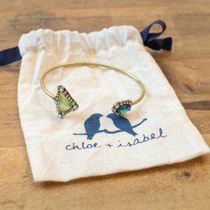 Chloe Isabel Antique Gold Tone Opal Cuff